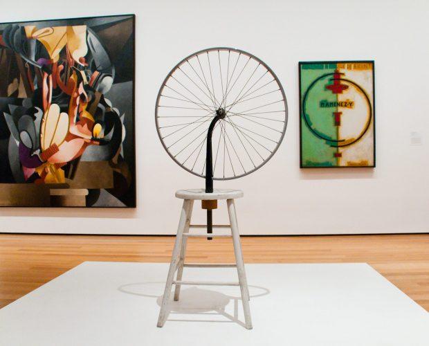 arte encontrado ready made Duchamp rueda