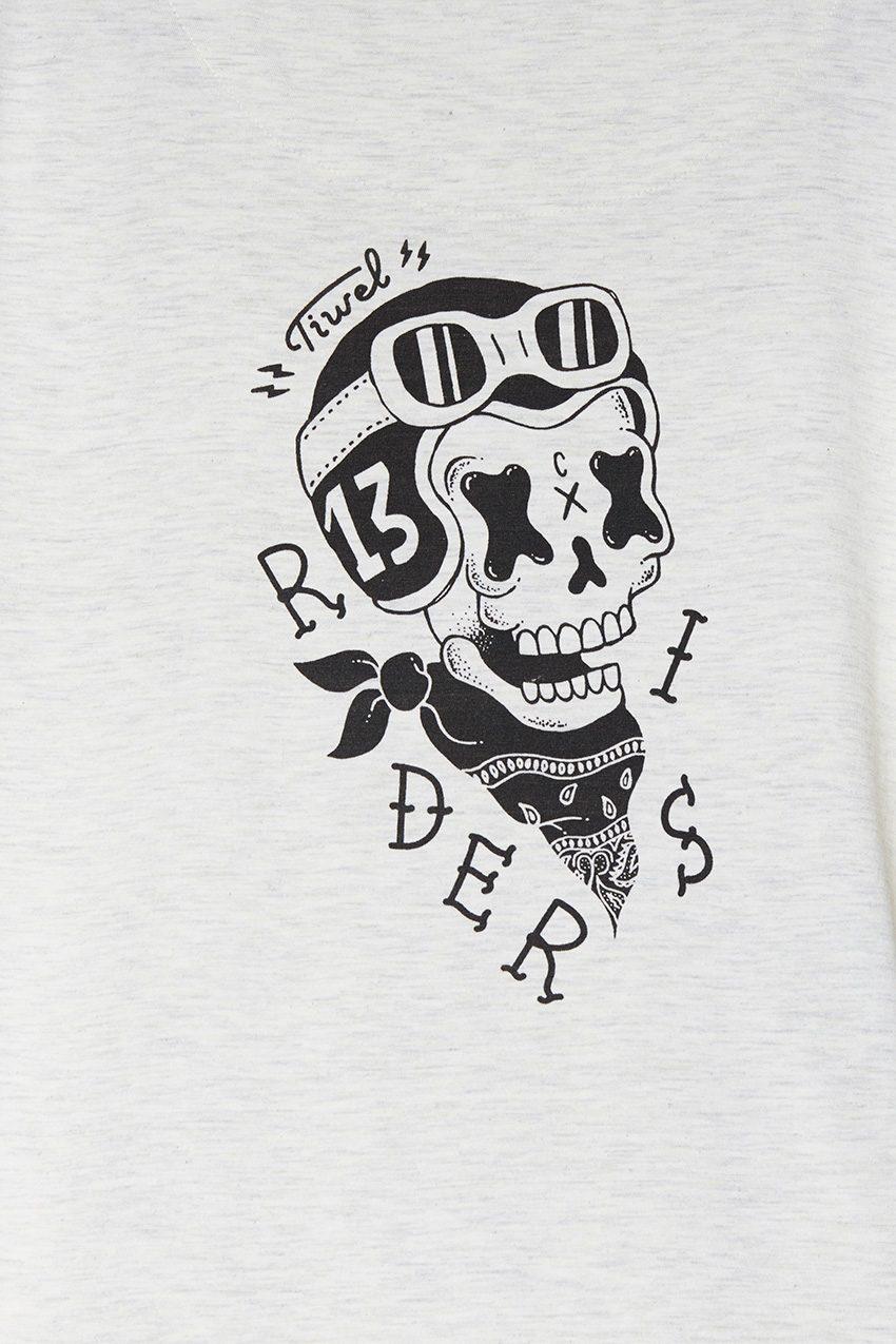 Camiseta Rider Off White Melange Back