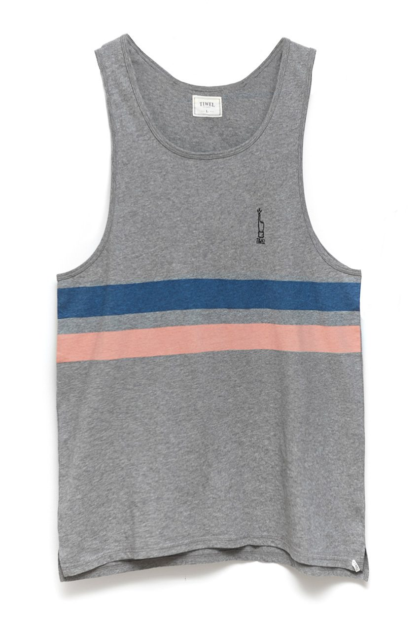 Camiseta Stripes Grey Melange