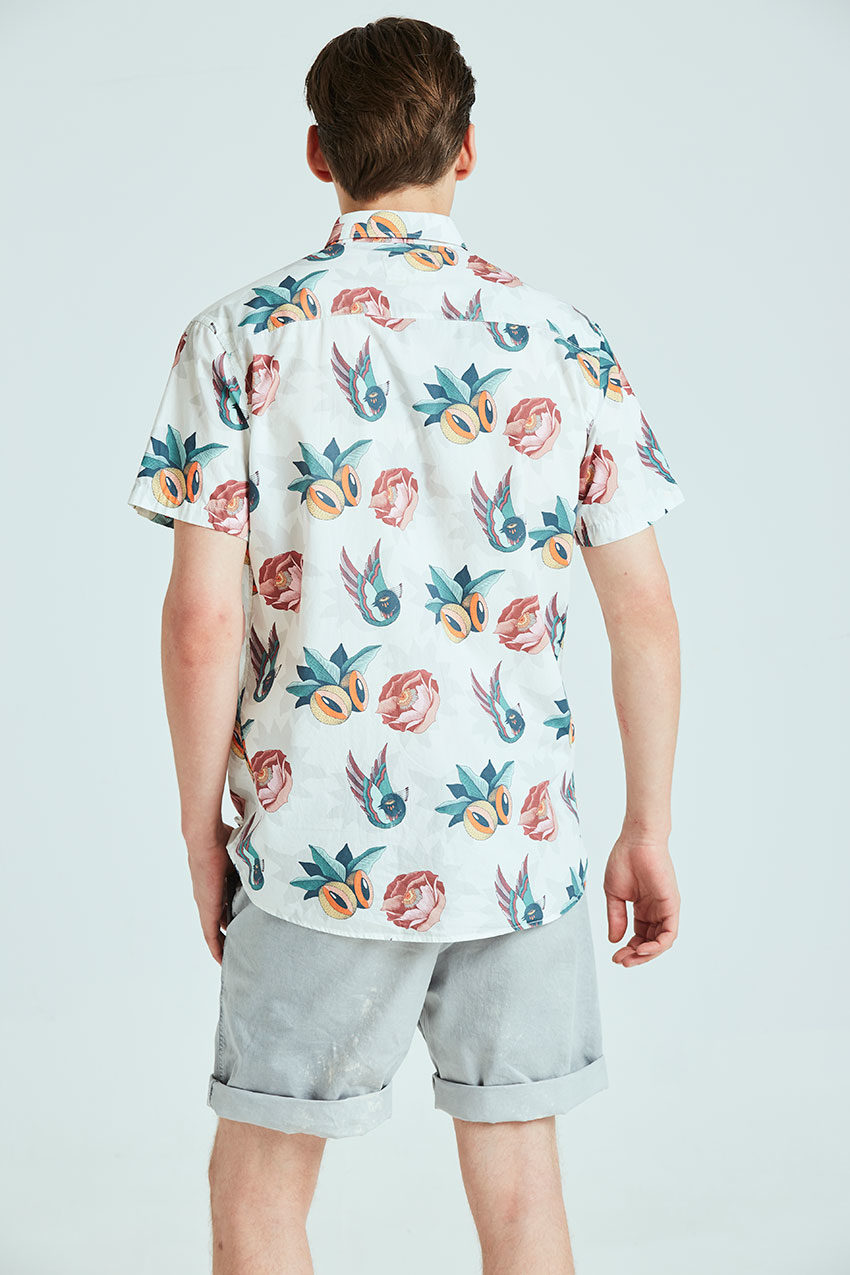Boa Jungle Shirt Tiwel snow white 02