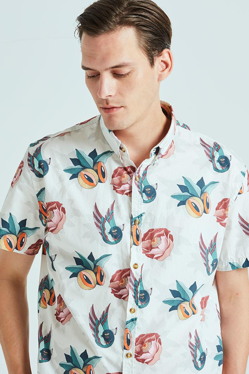 Boa Jungle Shirt Tiwel snow white 03