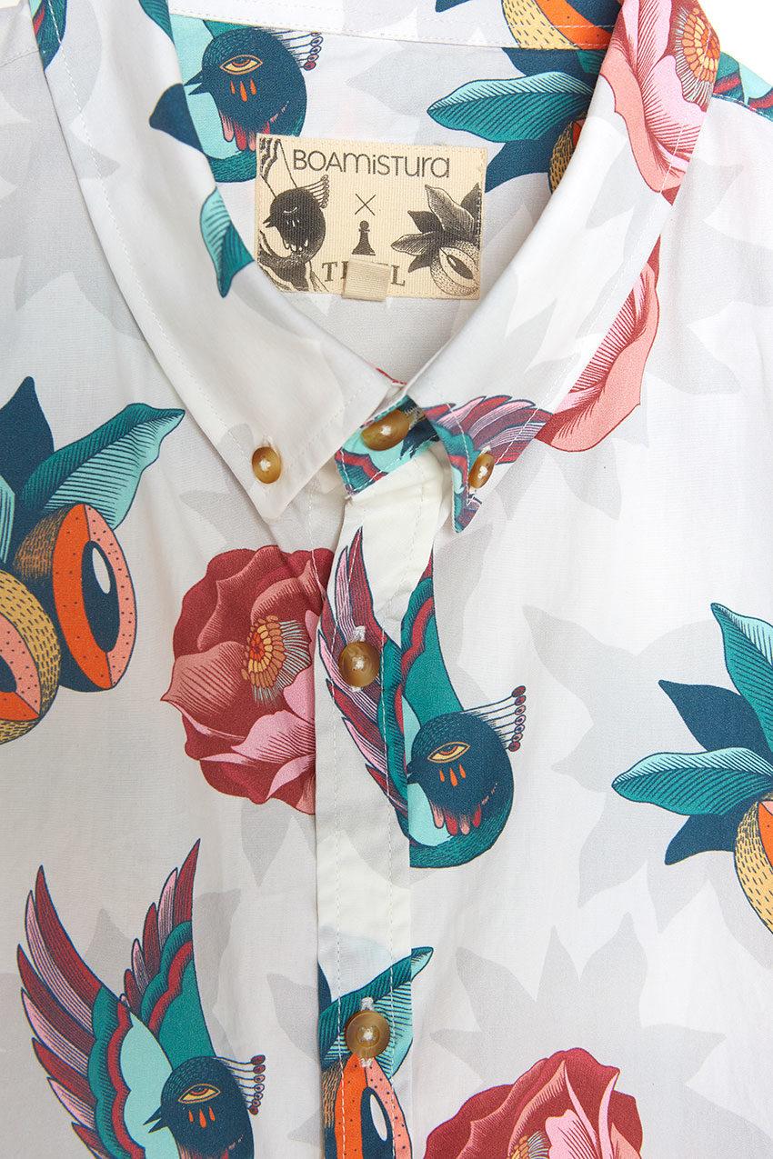 Boa Jungle Shirt Tiwel snow white 05