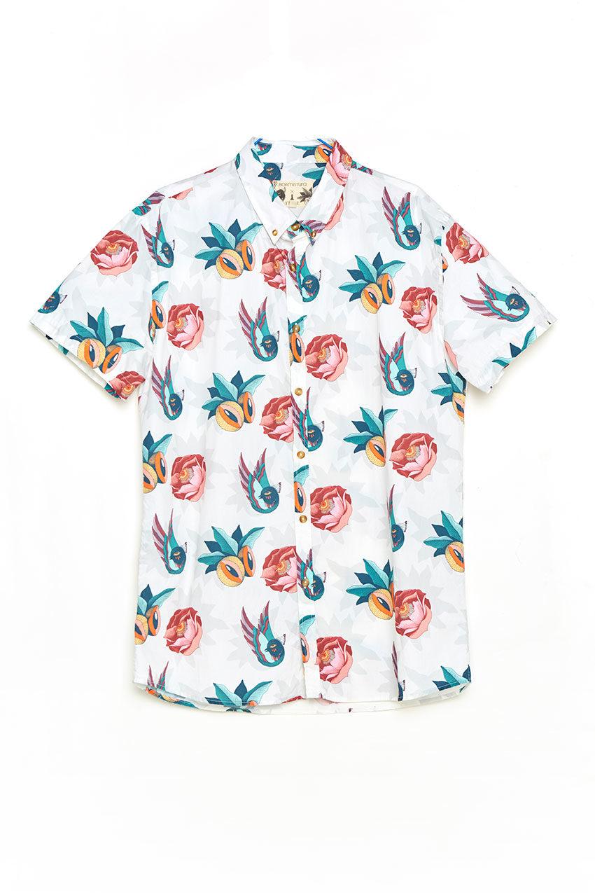 Boa Jungle Shirt Tiwel snow white