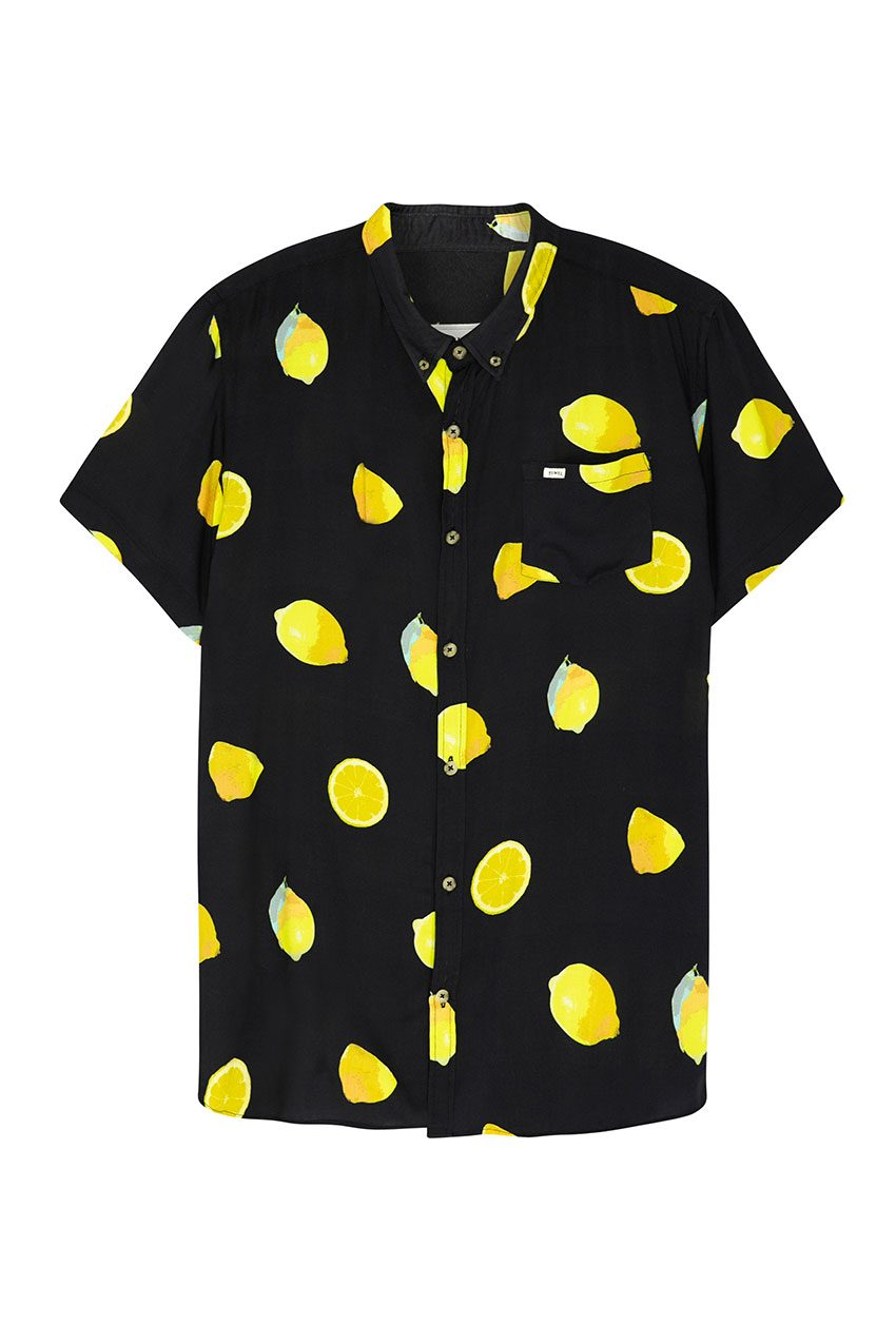 Camisa Fruit Tiwel faded black