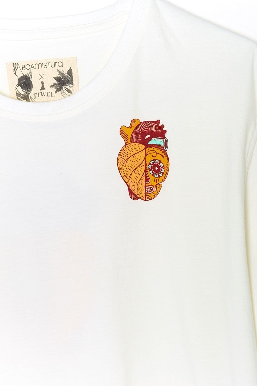 Camiseta Boa Calaca Tiwel off white 05