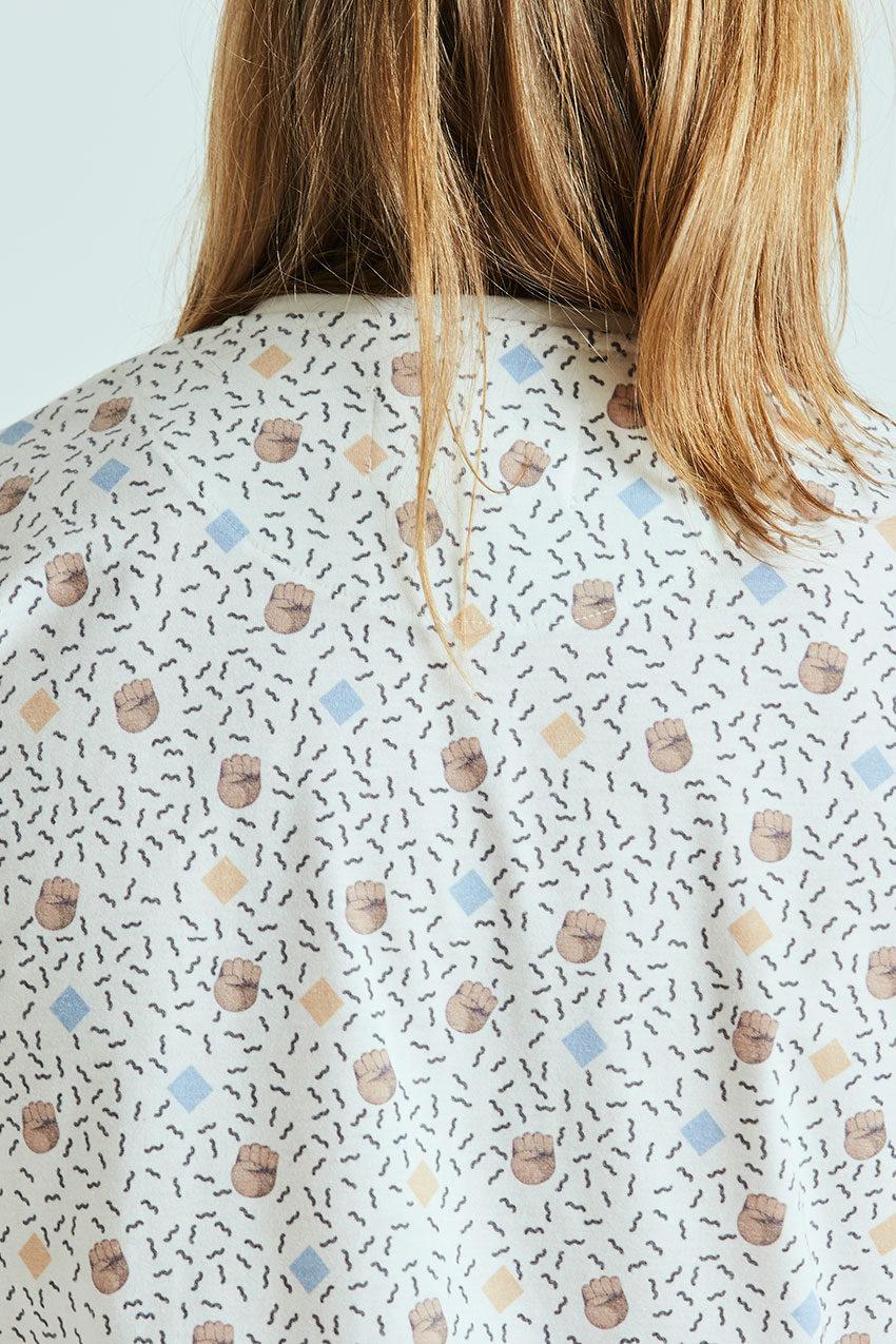 Camiseta Boa Mandela Tiwel off white 02