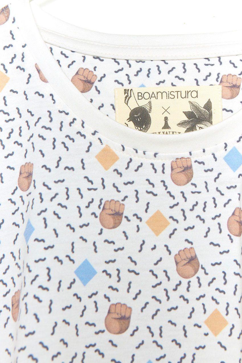 Camiseta Boa Mandela Tiwel off white 04