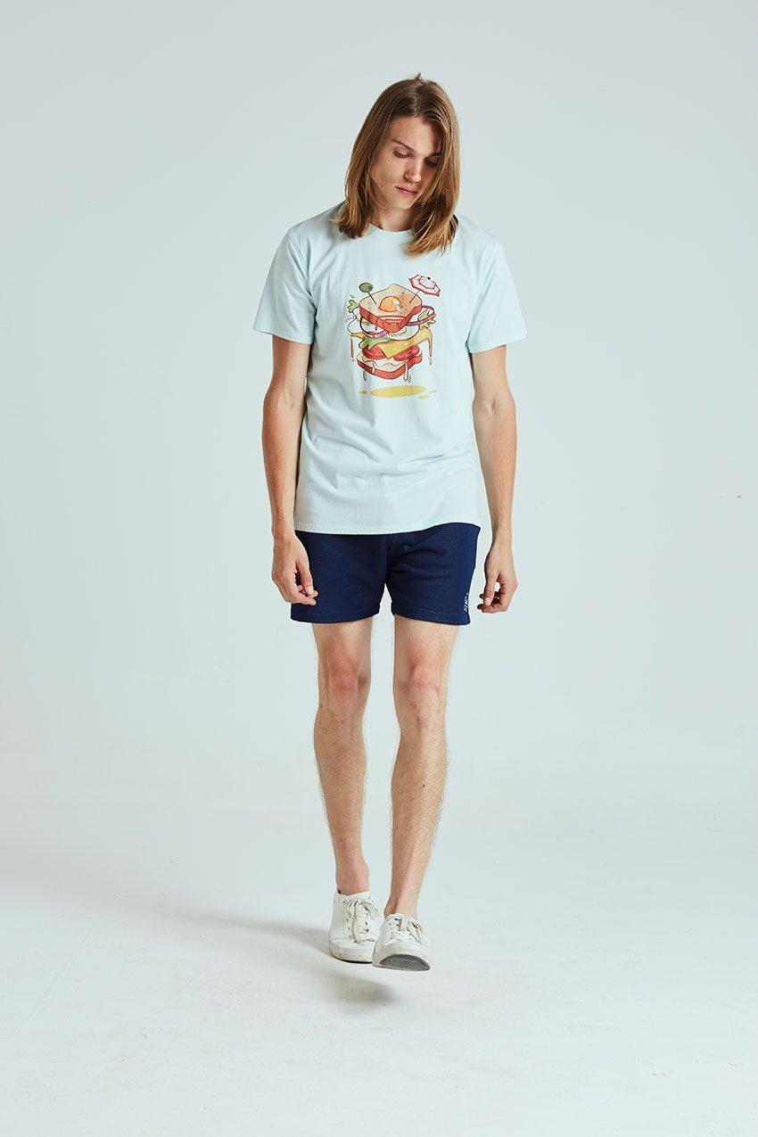 Sandwich Tshirt Tiwel wan blue 01