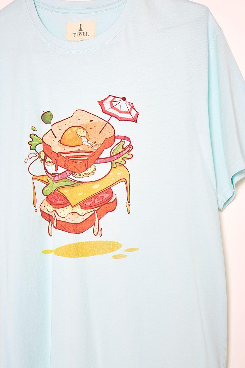 Sandwich Tshirt Tiwel wan blue 03