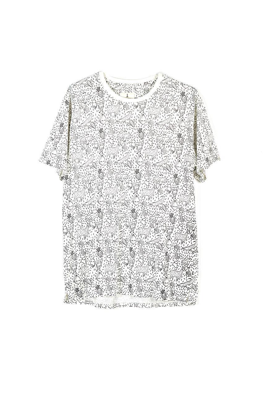 Camiseta Trazo Tiwel snow white
