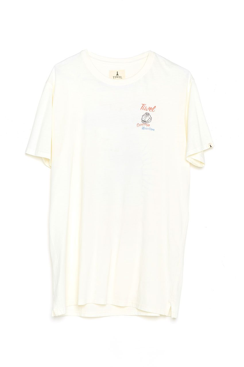 Camiseta Vacation Tiwel off white