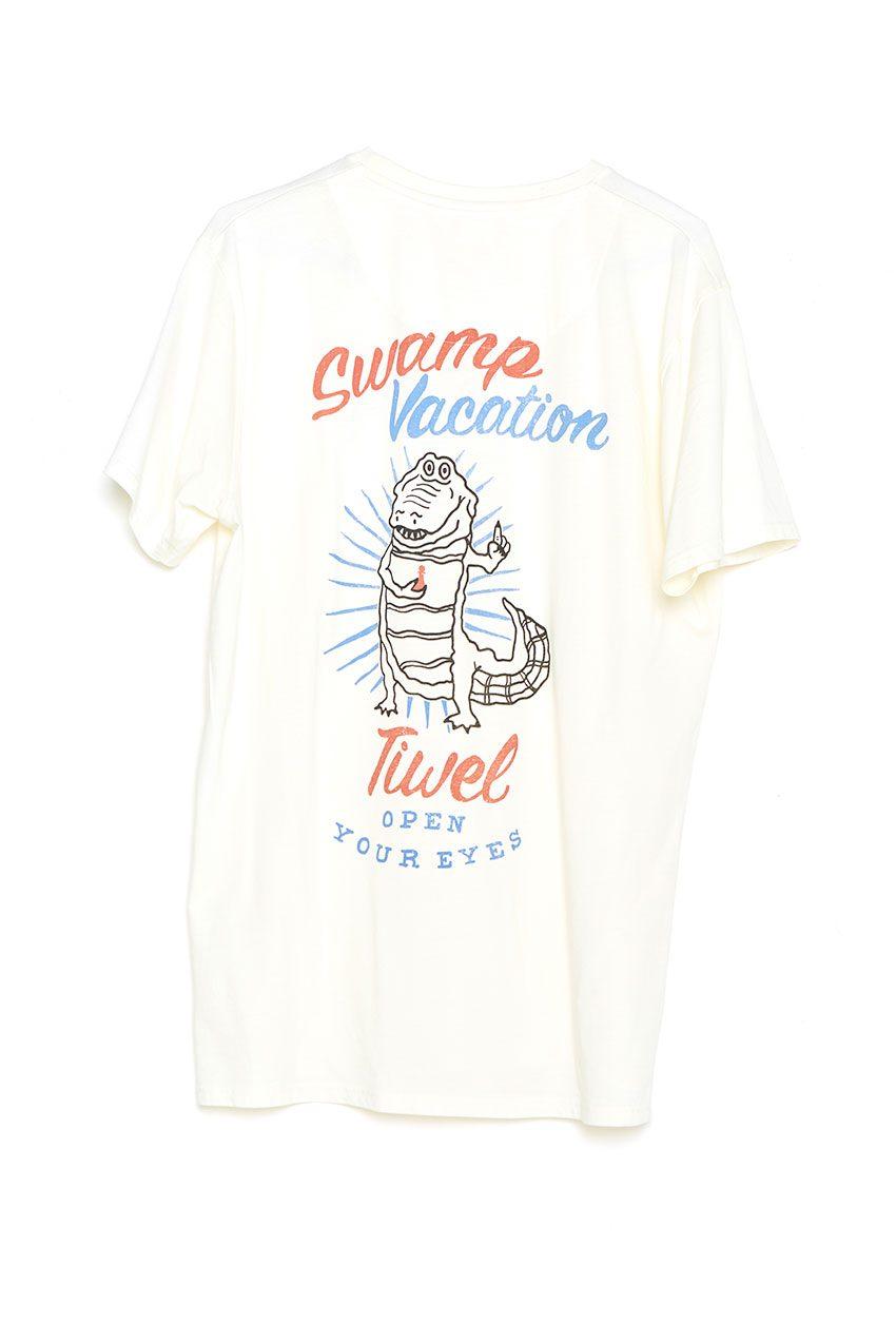 Camiseta Vacation Tiwel off white trasera