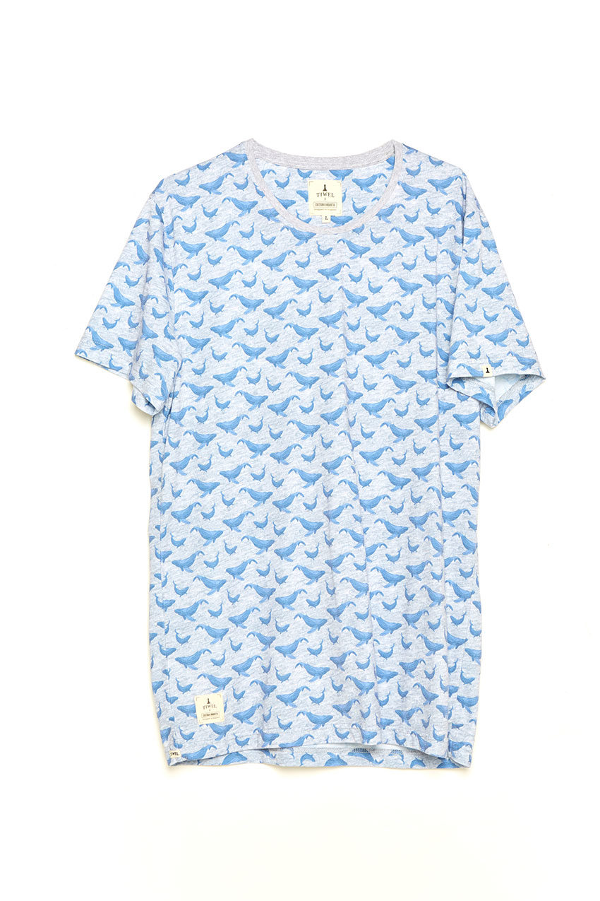 Camiseta Whale Tiwel light grey melange
