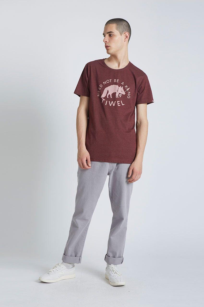 Wolf Tshirt Tiwel Cordoban melange 01