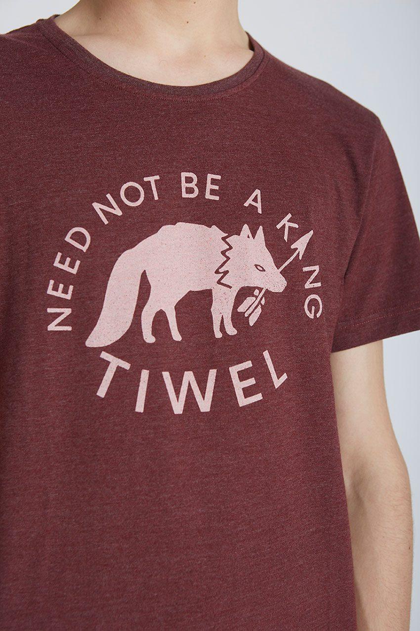 Wolf Tshirt Tiwel Cordoban melange 03