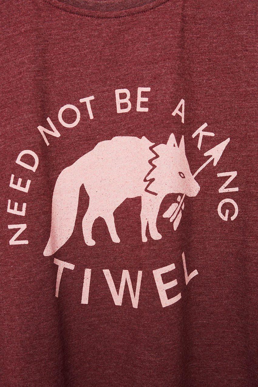 Wolf Tshirt Tiwel Cordoban melange 06