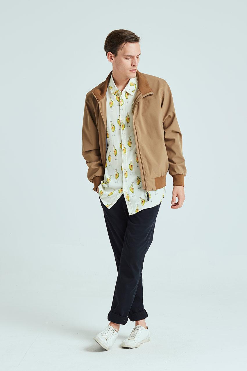 Haan jacket Tiwel sandstone 01