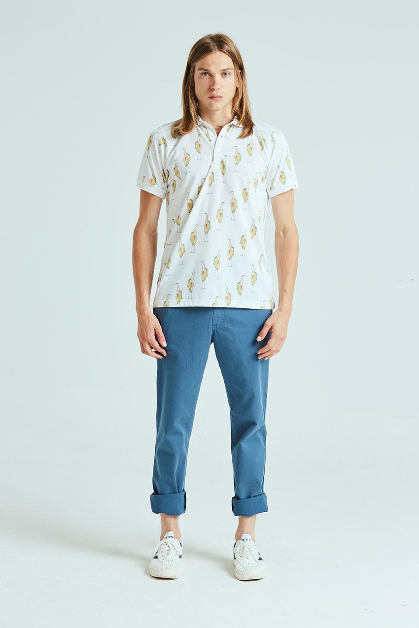 Heron Poloshirt Tiwel off white 01