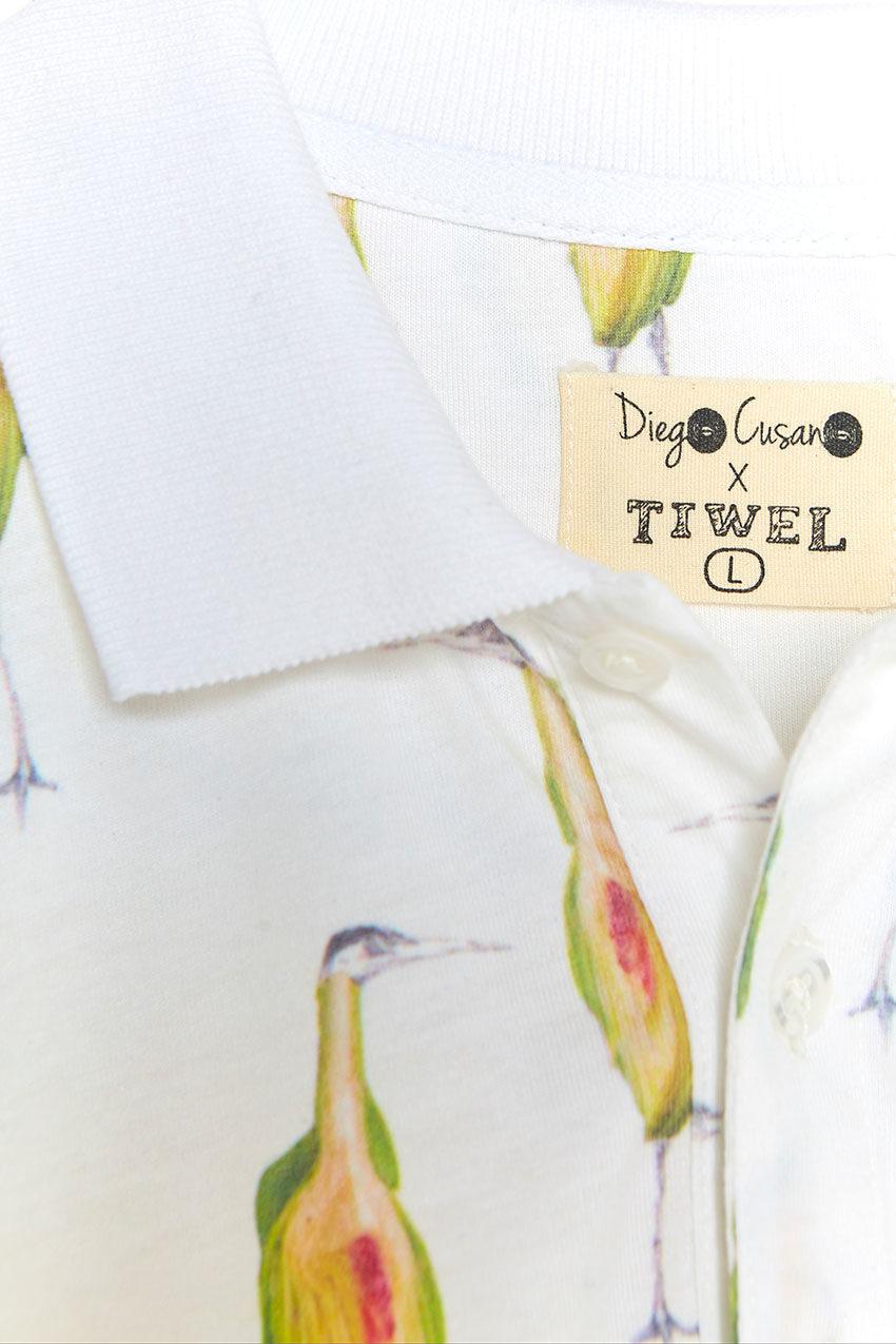Heron Poloshirt Tiwel off white 03
