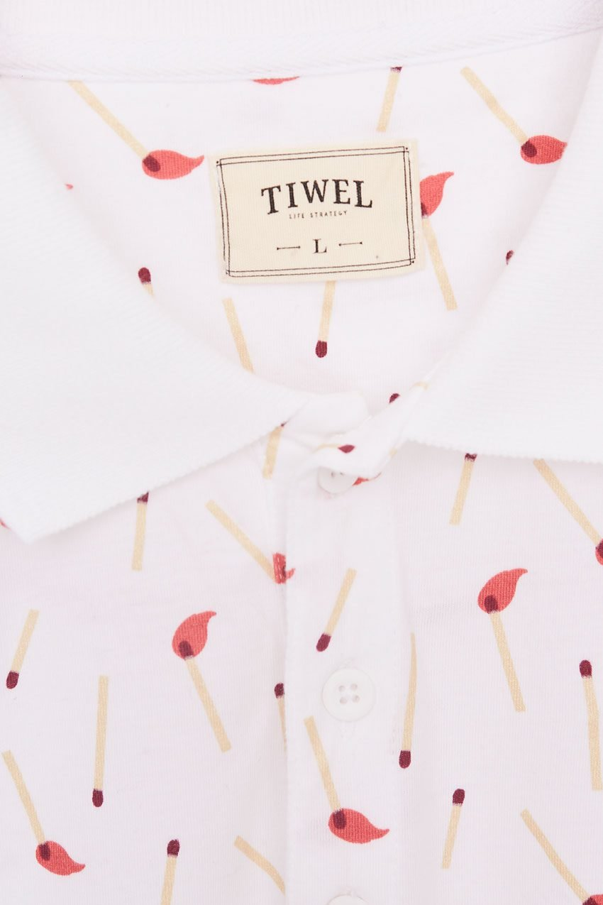 Stick Poloshirt Tiwel Snow White 09