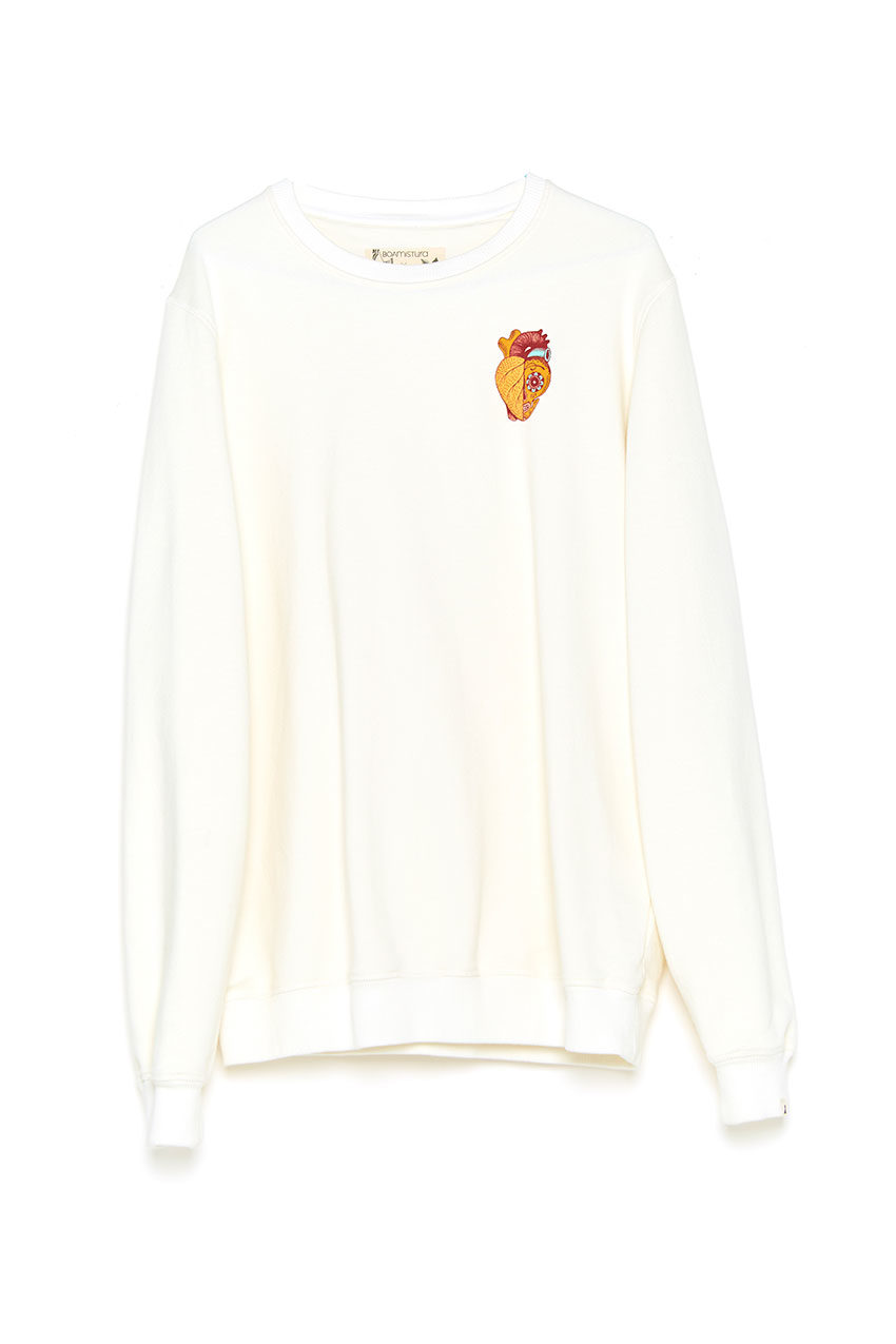 Sudadera Boa Heart Tiwel off white