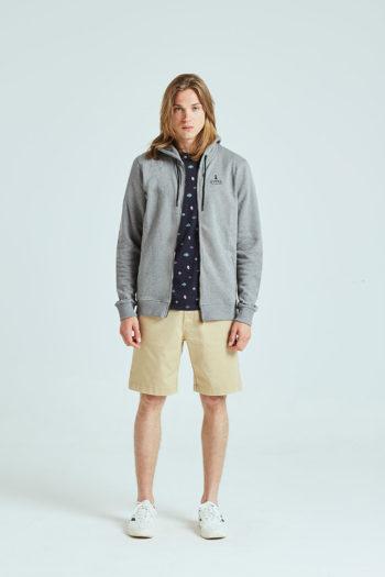 Brighton Sweatshirt Tiwel grey melange 01