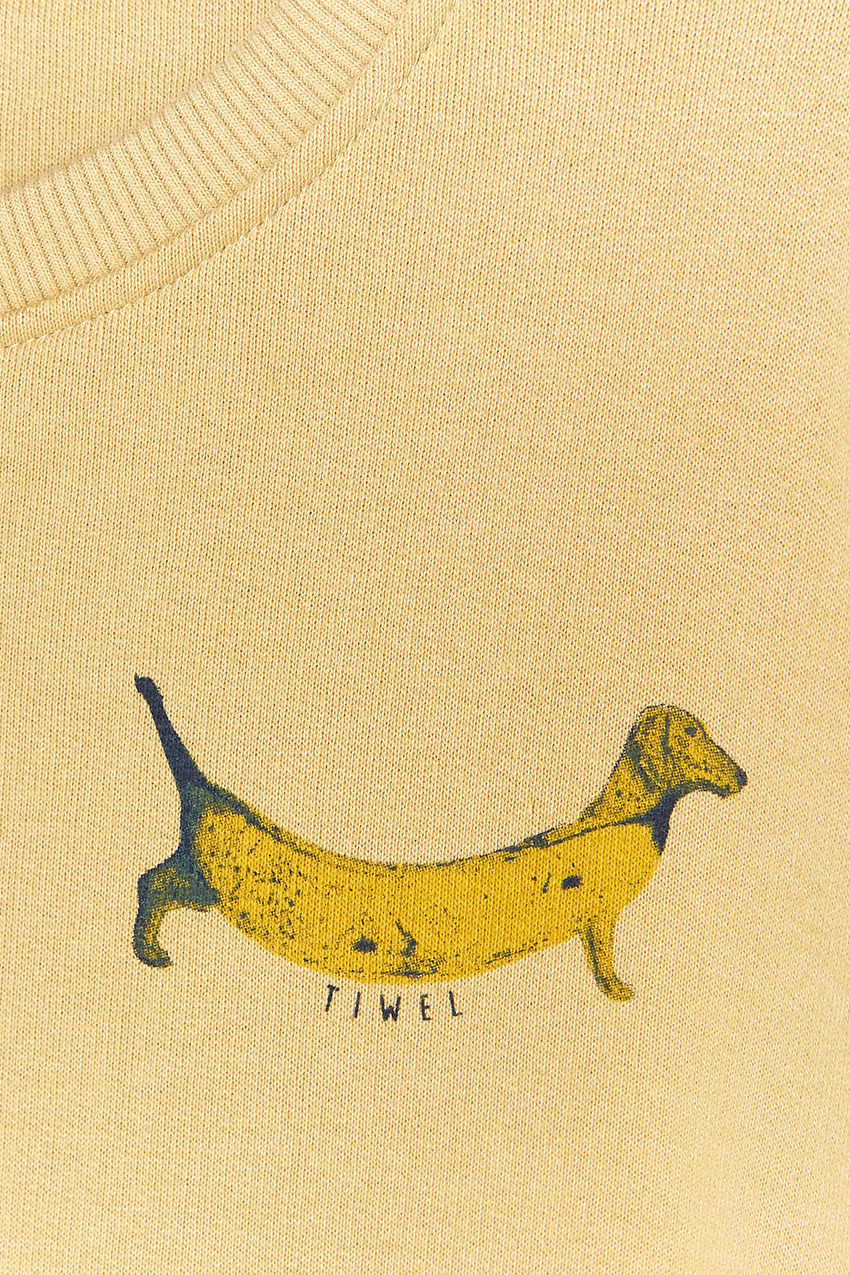 Sudadera Doggie Tiwel ochre 04