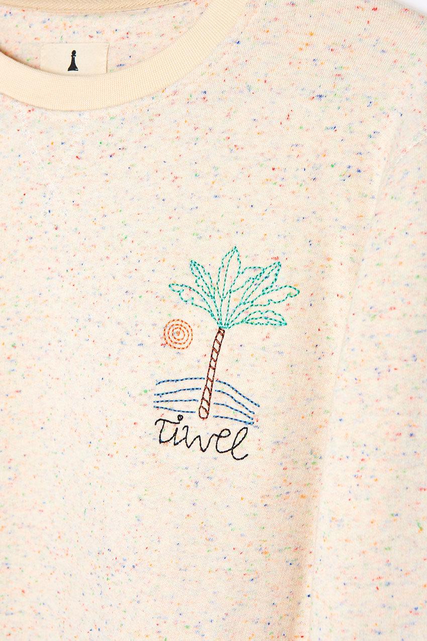 Sweat Palm Sweatshirt Tiwel off white 03